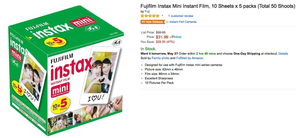 Instax Grab 31.99