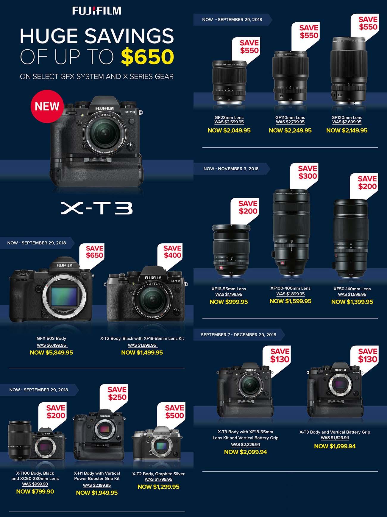 Fujifilm Savings Sunday With X T3 Fuji Addict E3 Kit Xf 23mm F2 Black 35mm T3w Grip Save 130 Bh Photo Amazon Adorama 18 55mm W