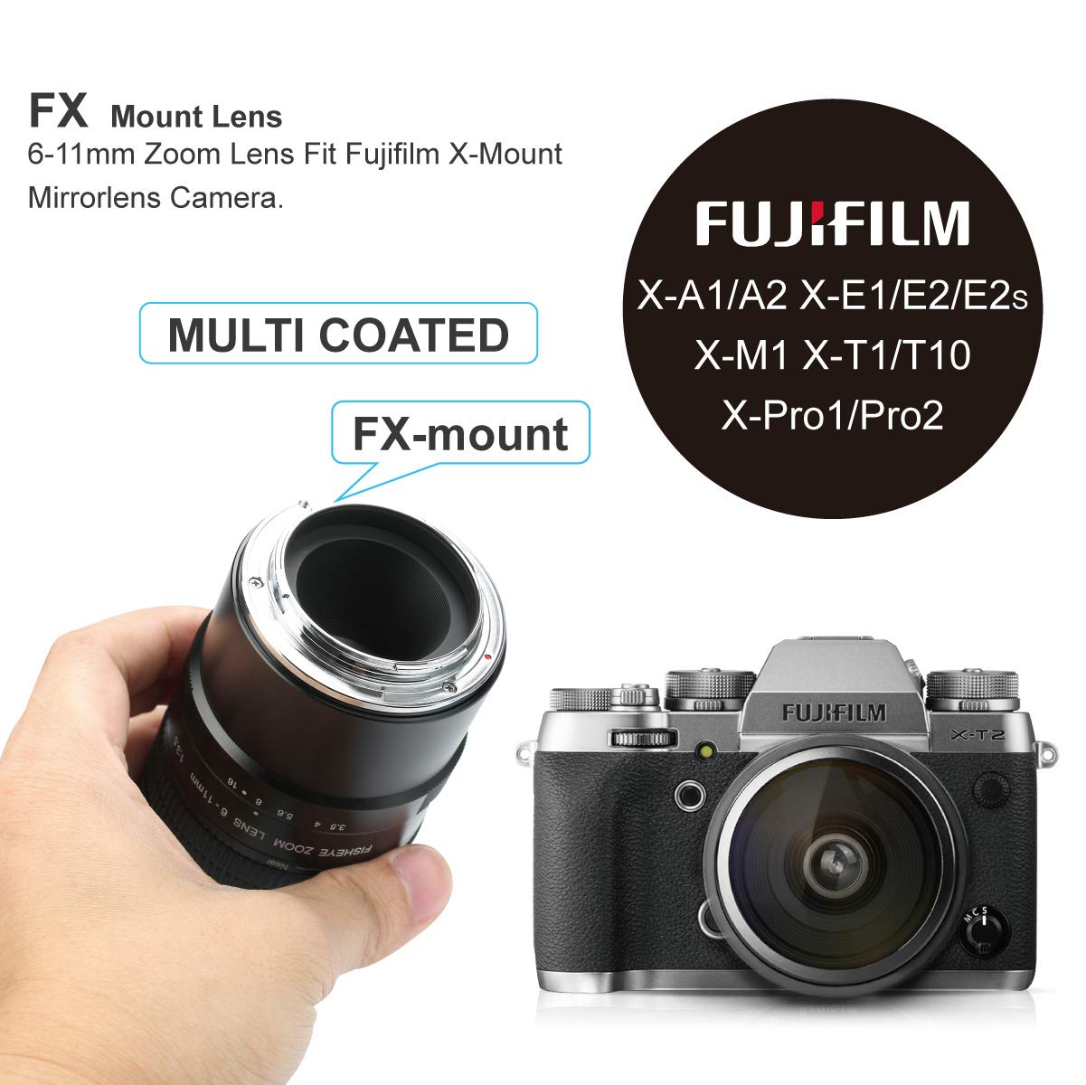 Meike 6-11mm F/3.5 Wide Angle APS-C Manual Focus Fisheye Zoom Lens