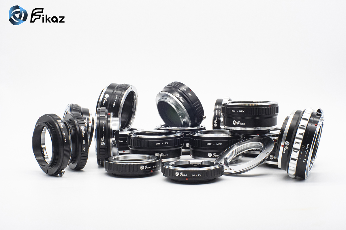 New FIKAZ Bayonet Adapters For Fujifilm X, Sony E, Micro 4/3, Nikon F and Pentax K