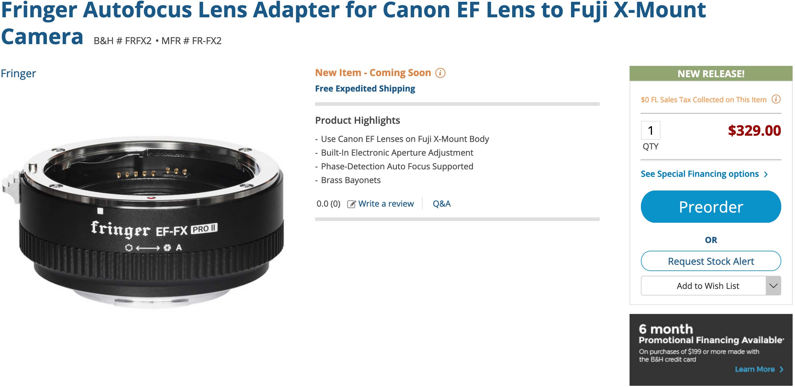 Fringer EF-FX Pro II Now Available in Stores - Fuji Addict